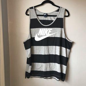 Nike striped tank top